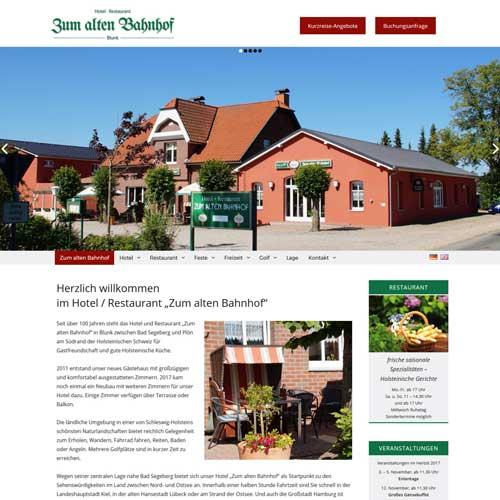 Webdesign Blunk - Zum alten Bahnhof Blunk