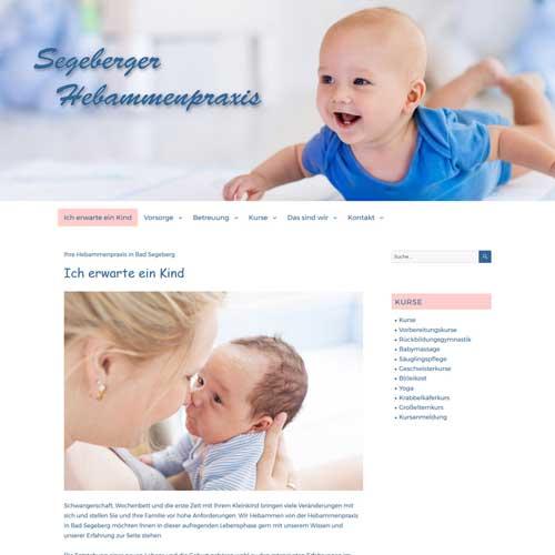 Webdesign Segeberg Hebammenpraxis