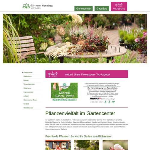 Webdesign Bornhöved Vierhusen - Gärtnerei Hennings