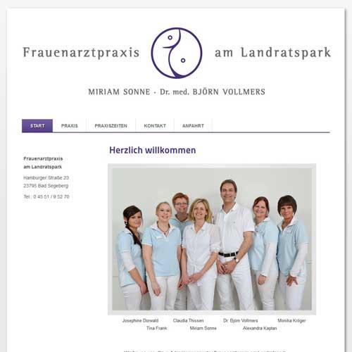 webdesign segeberg Frauenarztpraxis Sonne Vollmers